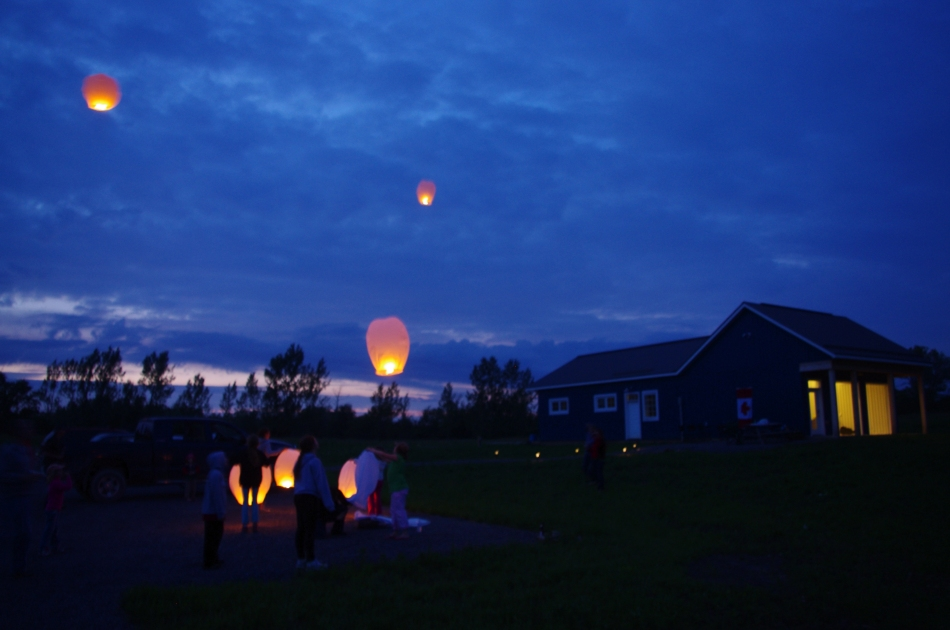 Our Chinese Lanterns drift away to who knows where!  When we said we wanted to set the wine world on fire, that's not what we meant!