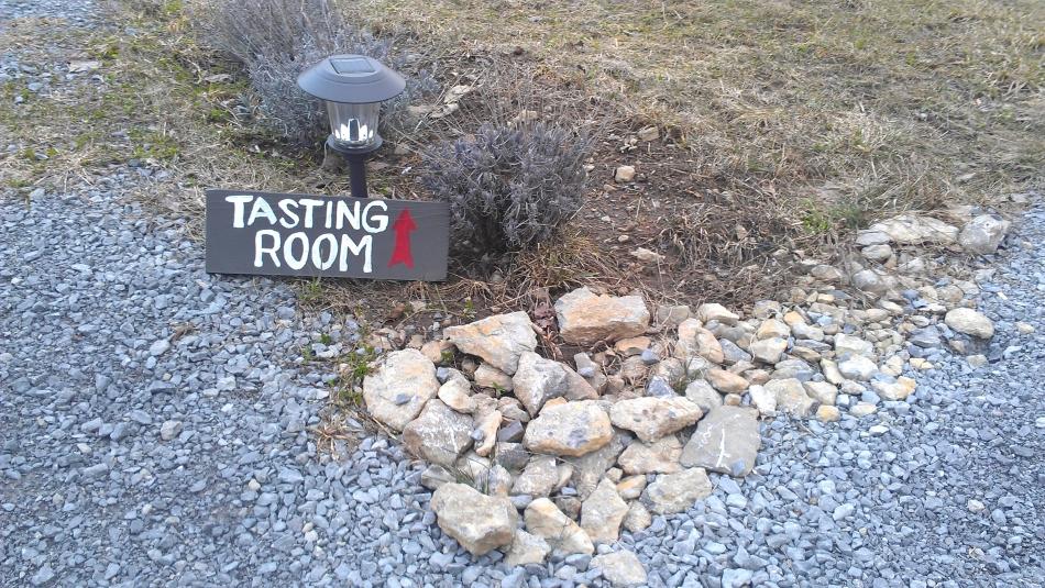 tasting room sign